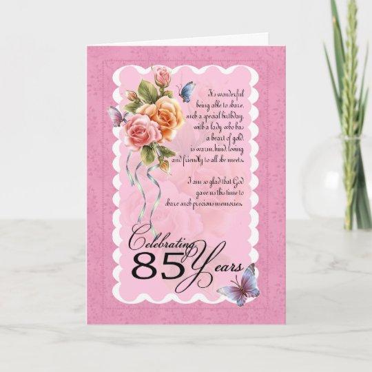 85th Birthday Greeting Card