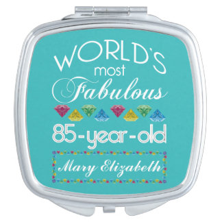 85th Birthday Most Fabulous Colorful Gem Turquoise Compact Mirror