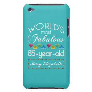 85th Birthday Most Fabulous Colorful Gem Turquoise iPod Touch Case-Mate Case