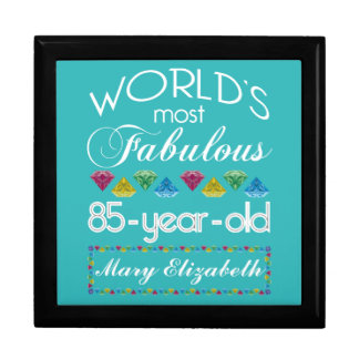 85th Birthday Most Fabulous Colorful Gem Turquoise Jewelry Box