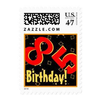 85th Birthday Party Big Bold Red Black Gold V085 Postage