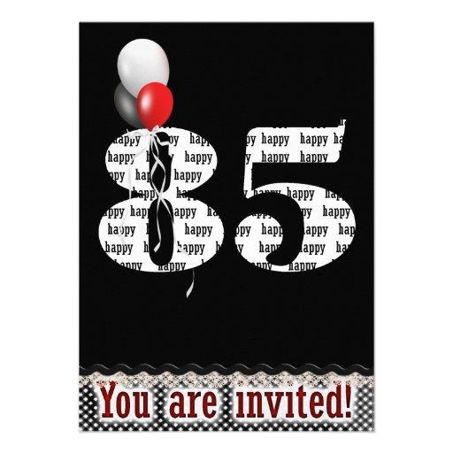 700+ 85th Birthday Invitations, 85th Birthday Announcements & Invites | Zazzle