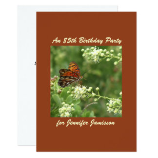 85th Birthday Party Invitation Butterfly