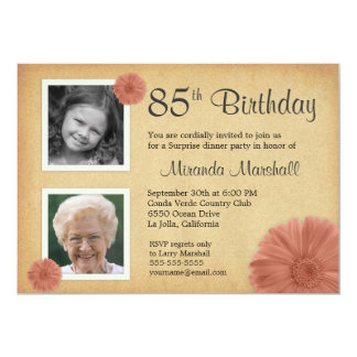 Surprise 85th Birthday Party Invitations & Announcements | Zazzle
