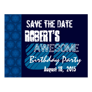 85th Birthday Party Save the Date Blue Midnight Postcard