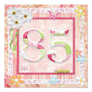 85th birthday party scrapbooking style card
