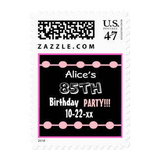 85th Birthday Party Stamp - Custom Name & Year