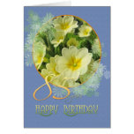 85th Birthday Primroses and blue Cards