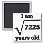 85th Birthday Square Root 2 Inch Square Magnet