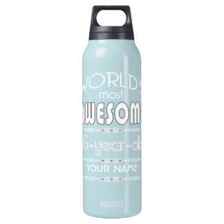 85th Birthday Worlds Best Fabulous Dark Blue Insulated Water Bottle