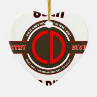 "85TH INFANTRY DIVISION "" CUSTER DIVISION"" CERAMIC ORNAMENT"