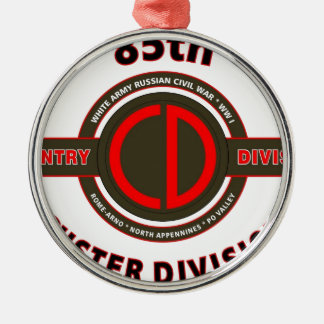 """85TH INFANTRY DIVISION """" CUSTER DIVISION"""" METAL ORNAMENT"""