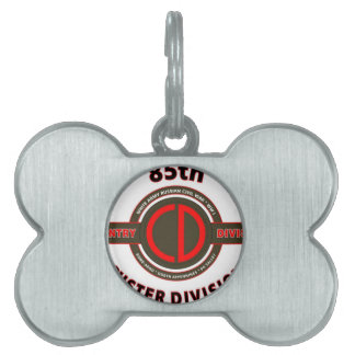 """85TH INFANTRY DIVISION """" CUSTER DIVISION"""" PET ID TAGS"""