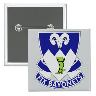85th Infantry Regiment - Fix Bayonets Pinback Button