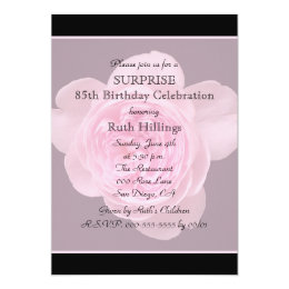85th birthday invitations announcements zazzle 85th surprise birthday party invitation rose filmwisefo Choice Image