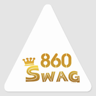 860 Connecticut Swag Triangle Sticker
