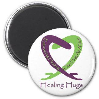 8621_Healing_Hugs_logo_8 31 11_test-2 Imán De Frigorifico
