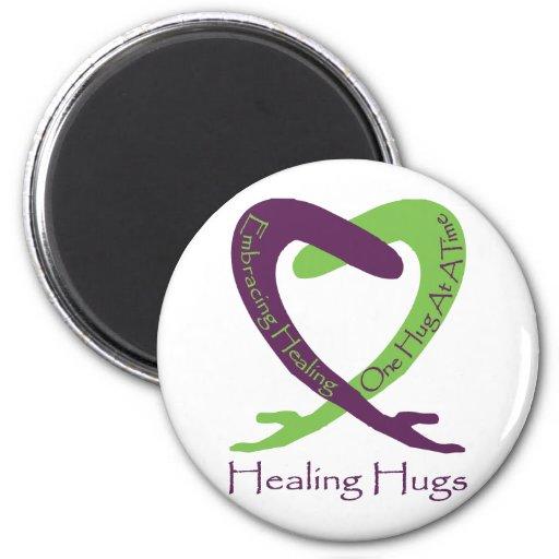 8621_Healing_Hugs_logo_8.31.11_test-2 Imán De Frigorifico