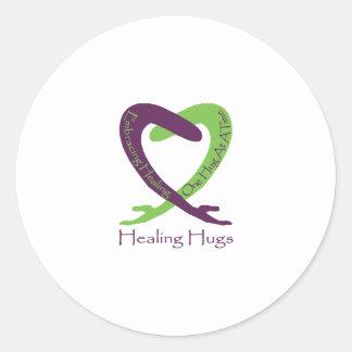 8621_Healing_Hugs_logo_8.31.11_test-2 Round Sticker