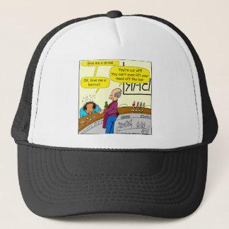 862 give me a haircut cartoon trucker hat
