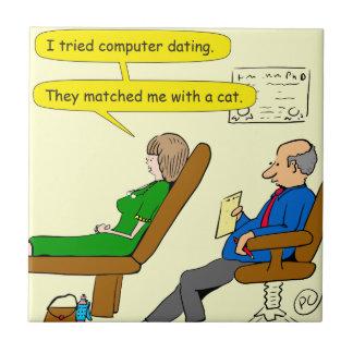 863 computer dating cartoon ceramic tile