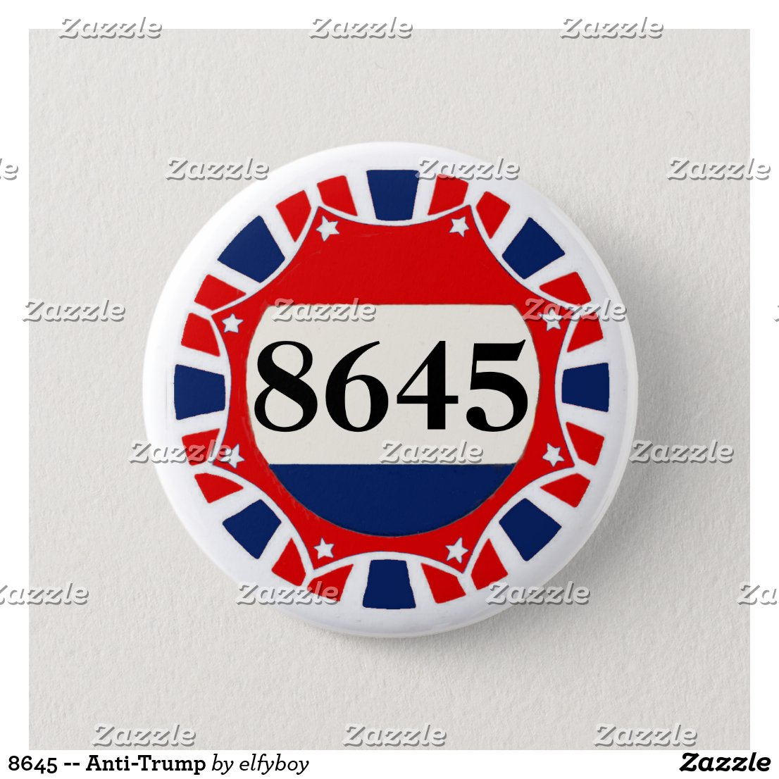 8645 -- Anti-Trump Pinback Button