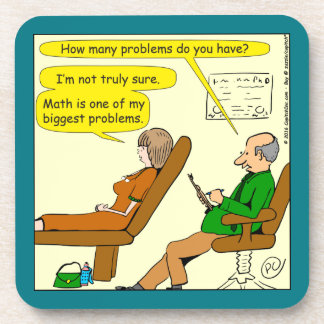 865 how many problems do you have - CARTOON Beverage Coaster