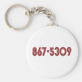 867-5309 BASIC ROUND BUTTON KEYCHAIN