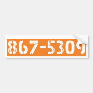 867-5309 PEGATINA DE PARACHOQUE