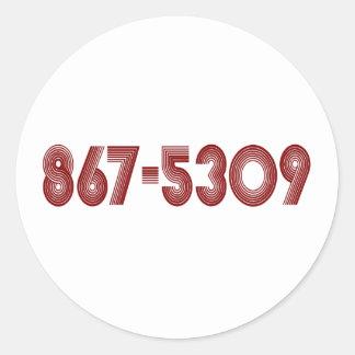 867-5309 CLASSIC ROUND STICKER