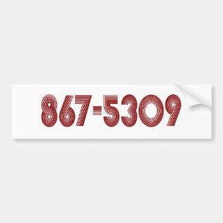 867-5309 PEGATINA PARA AUTO