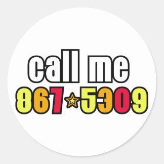 867-5309 PEGATINA REDONDA