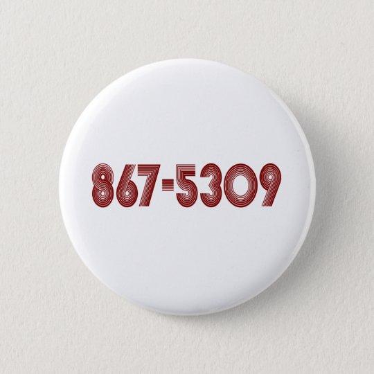 867-5309 PINBACK BUTTON