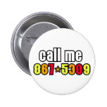 867-5309 PINBACK BUTTONS