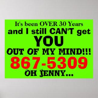 867-5309 poster chistoso de los años 80