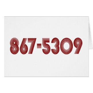 867-5309 TARJETA DE FELICITACIÓN