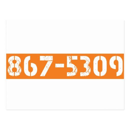 867-5309 TARJETA POSTAL