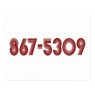 867-5309 TARJETAS POSTALES