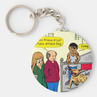 867 panic attack dog cartoon keychain