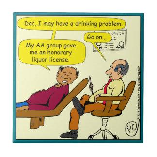 869 honorary liquor license cartoon tile