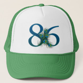 86 / 86th birthday number trucker hat