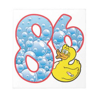 86 Age Duck Memo Pad