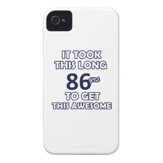 86 birthday design iPhone 4 case