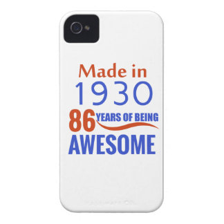 86 birthday design iPhone 4 Case-Mate case