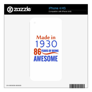 86 birthday design iPhone 4 skins