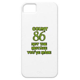86 birthday design iPhone SE/5/5s case