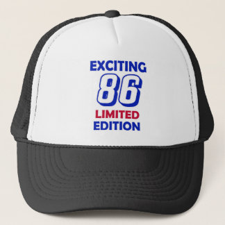 86 Birthday Design Trucker Hat