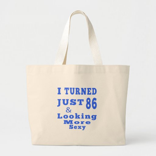 86 birthday designs bags