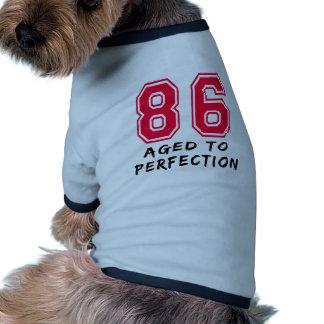 86 envejeció al diseño del cumpleaños de la perfec camisas de perritos