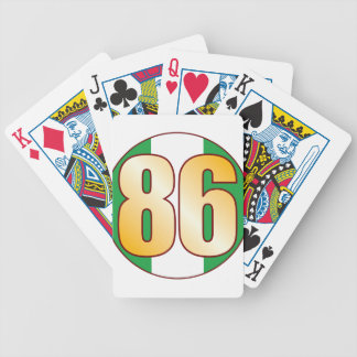 86 NIGERIA Gold Bicycle Playing Cards